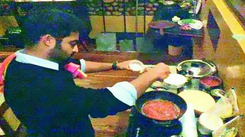 Jr NTR cooking food for his wife