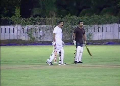 Jr. NTR playing cricket