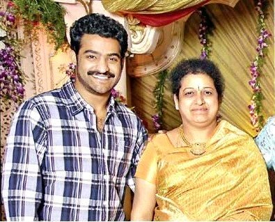 Jr. NTR with his mother
