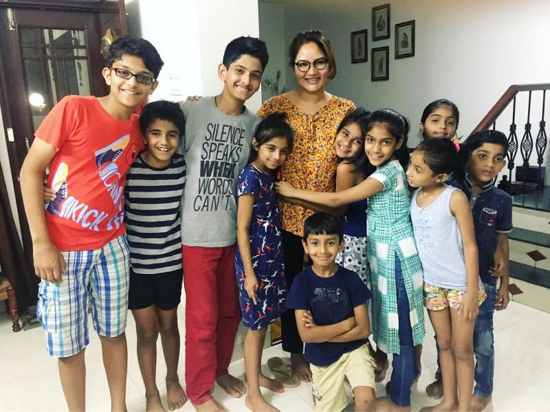 Kamna Pathak Spending Time With Children