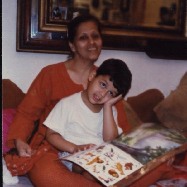 Karan Kapadia with his mother