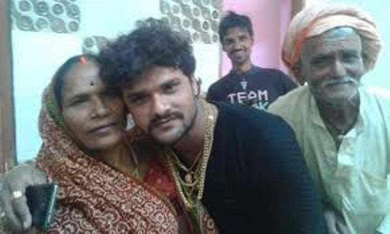 Khesari Lal With His Parents