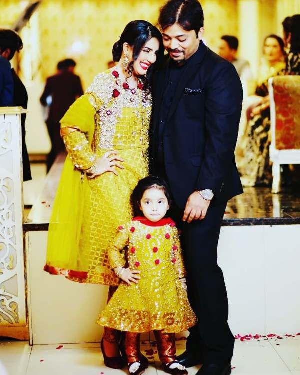 Kiran Naz with her husband and daughter