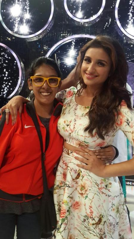 Kriti Mohan with Parineeti Chopra