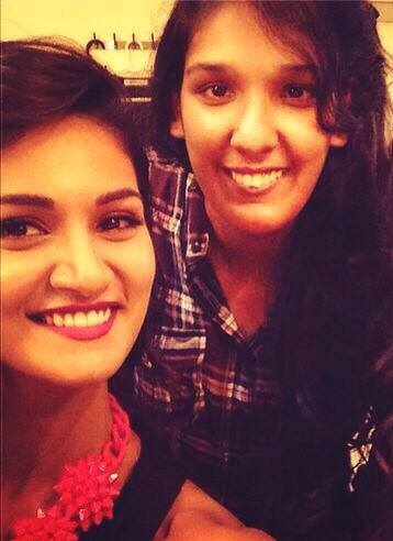 Kriti Mohan with her sister Mukti Mohan