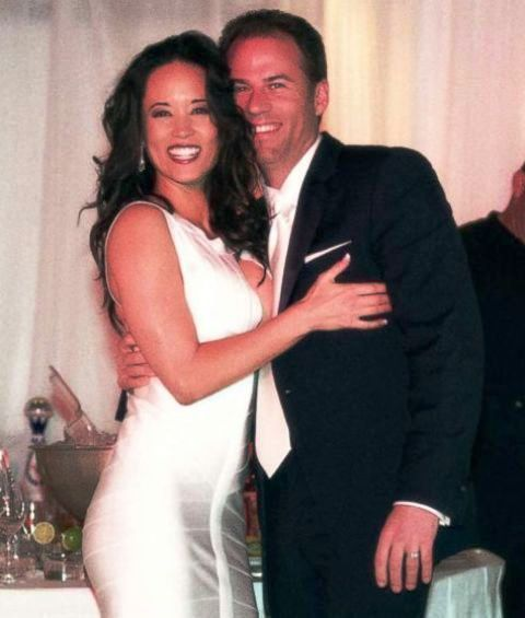 Lisa Storie with her husband Michael Avenatti