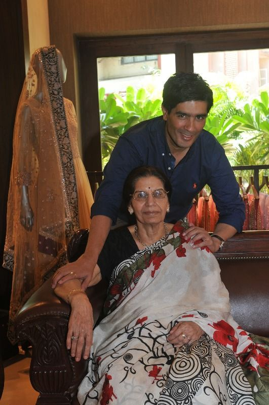 Manish Malhotra with his mother