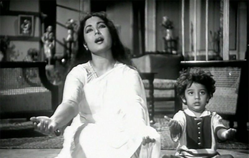 Meena Kumari with Honey Irani