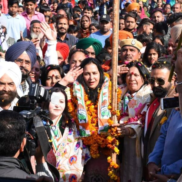 Navjot Kaur Sidhu during a congress rally