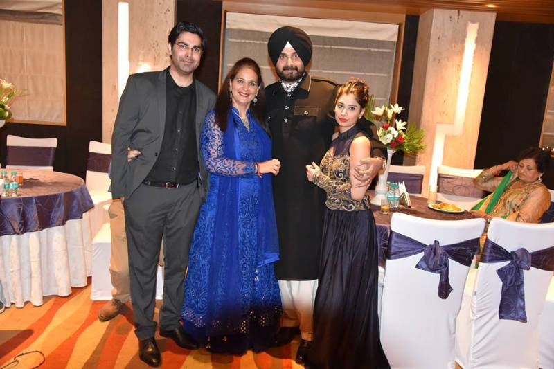 Navjot Kaur Sidhu with her family