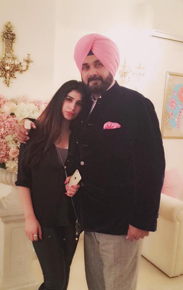 Navjot Singh Sidhu with his daughter