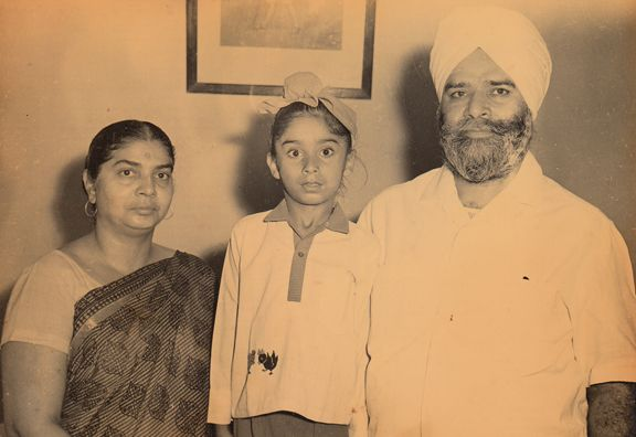 Navjot Singh Sidhu with his parents