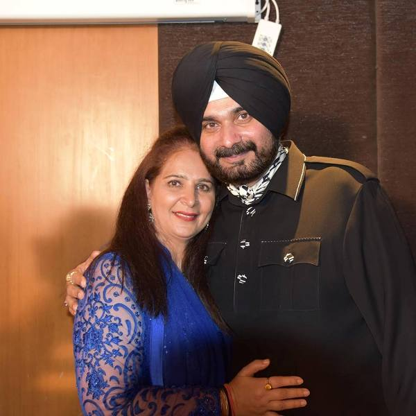 Navjot kaur Sidhu with her husband
