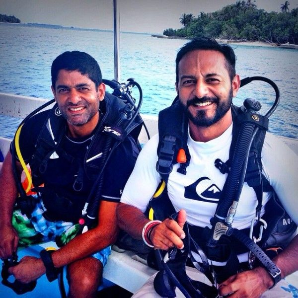 Nikhil Chinapa with his brother