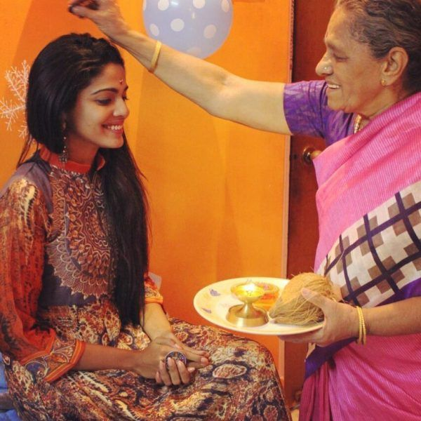 Pooja Sawant with her grand mother
