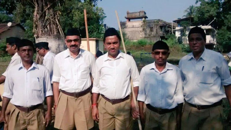 Pramod Sawant In RSS Uniform