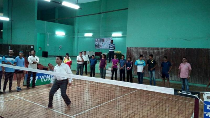 Pramod Sawant Playing Badminton