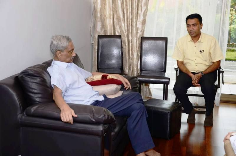 Pramod Sawant With Manohar Parrikar