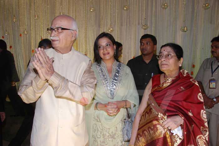 Pratibha Advani with her parents