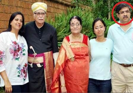 Pratibha Advani with her parents and brother