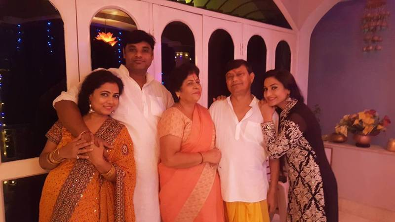 Rati Pandey with her family