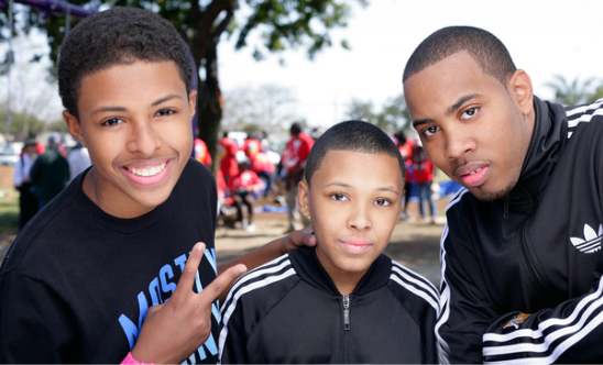 Russy Simmons with his brothers
