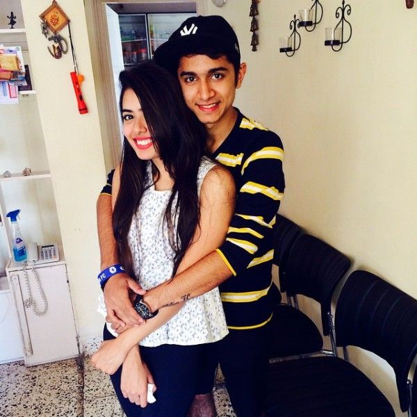 Sana Sayyad with her brother