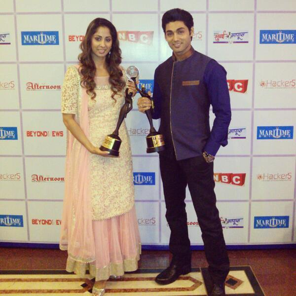 Sangeeta Ghosh with an award