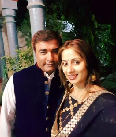Sangeeta Ghosh with her husband