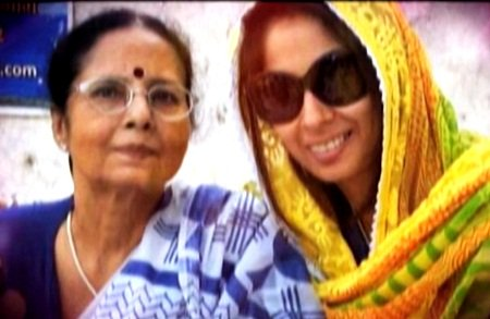 Sangeeta Ghosh with her mother
