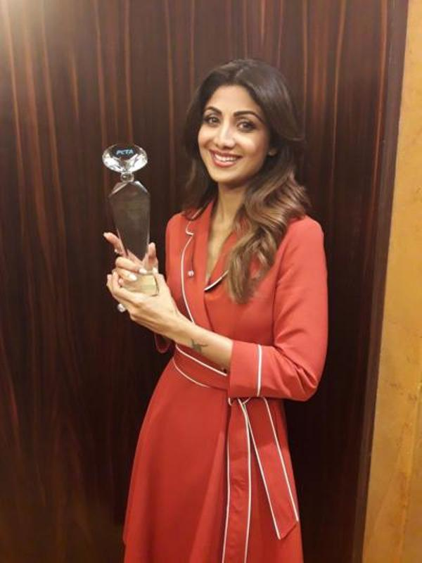 Shilpa Shetty With Her PETA Awards