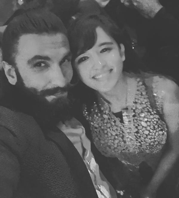 Shirley Setia with Ranveer Singh