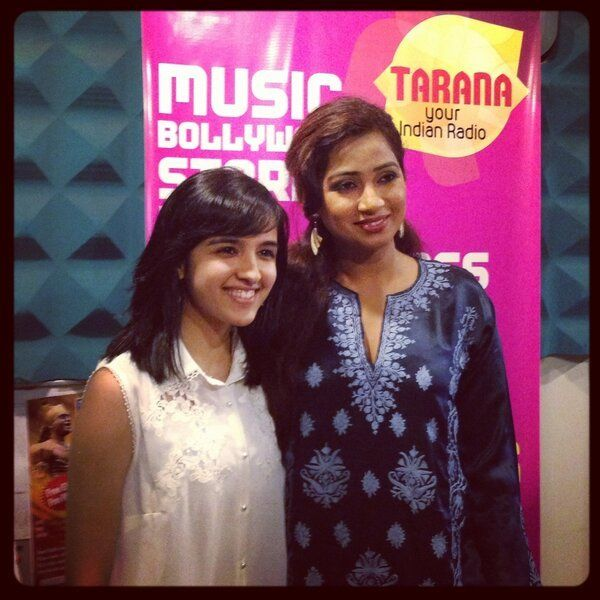 Shirley Setia with Shreya Ghoshal
