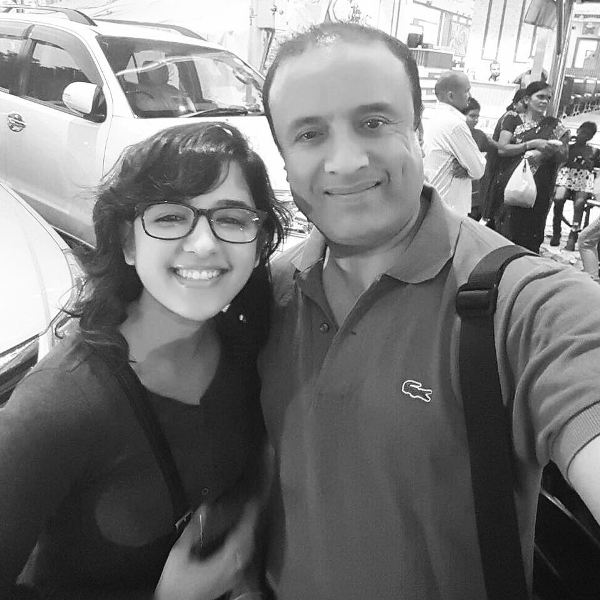 Shirley Setia with her father