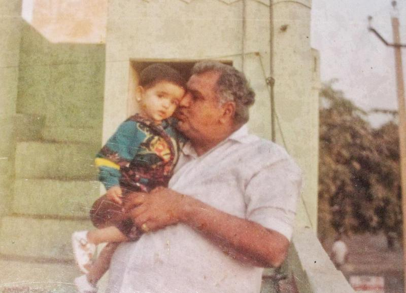 Shirley Setia with her grandfather