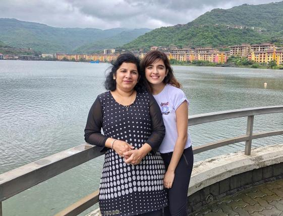 Shirley Setia with her mother