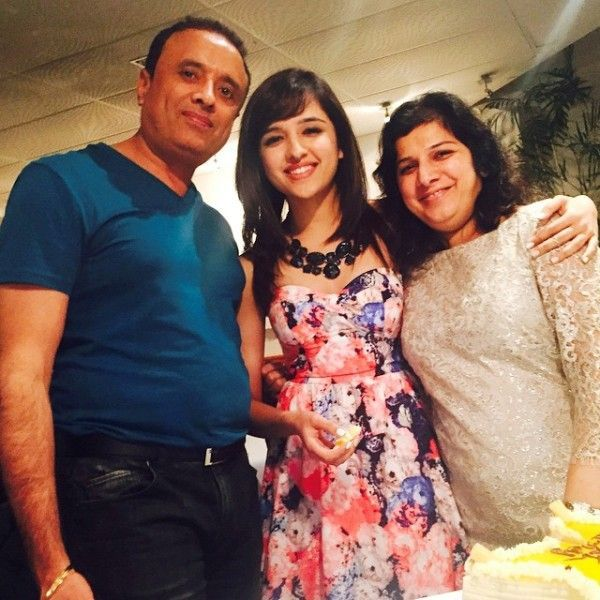 Shirley Setia with her parents