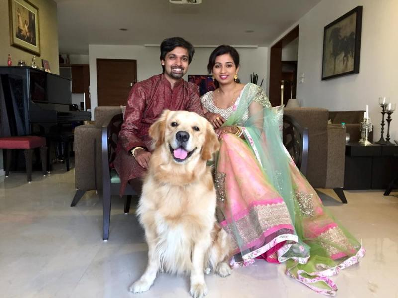Shreya Ghoshal And Her Dog Sherlock