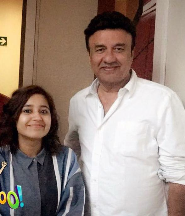 Shweta Tripathi with Anu Malik