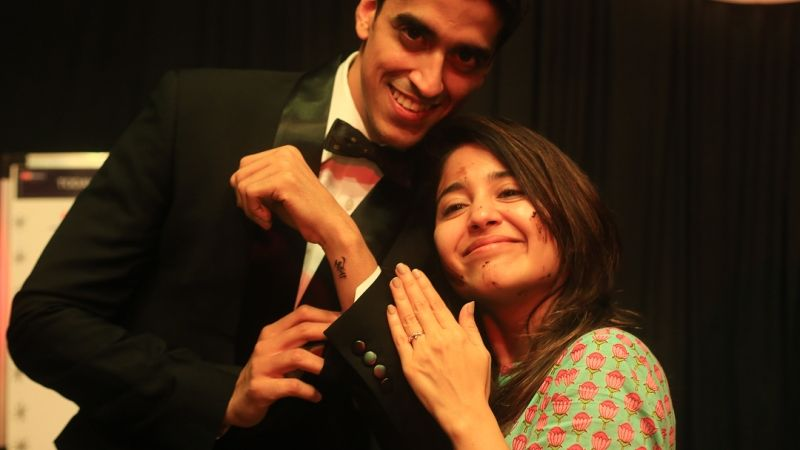 Shweta Tripathi with her husband