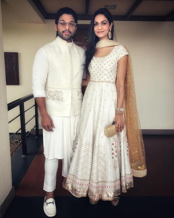 Sneha Reddy with her husband