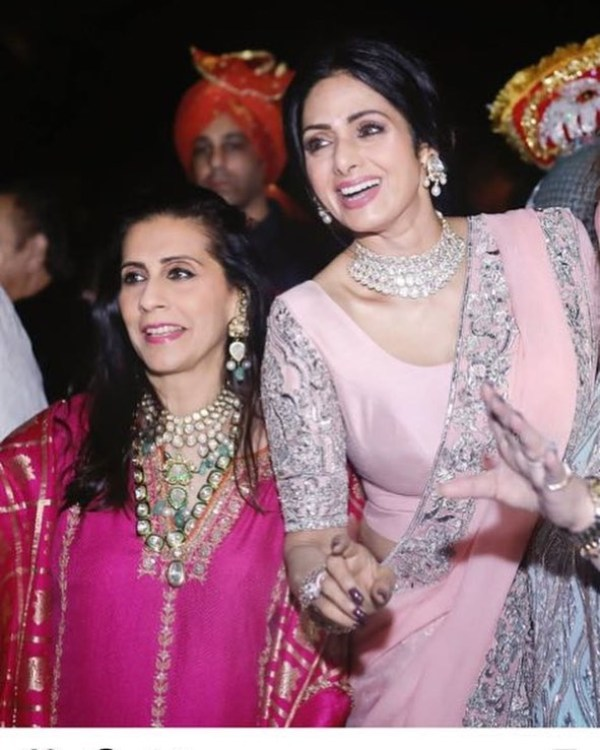 Sunita Kapoor with Sridevi