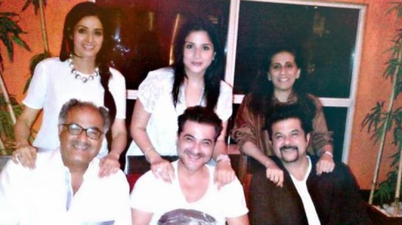 Sunita Kapoor with her husband, brothers-in-law, and sisters-in law