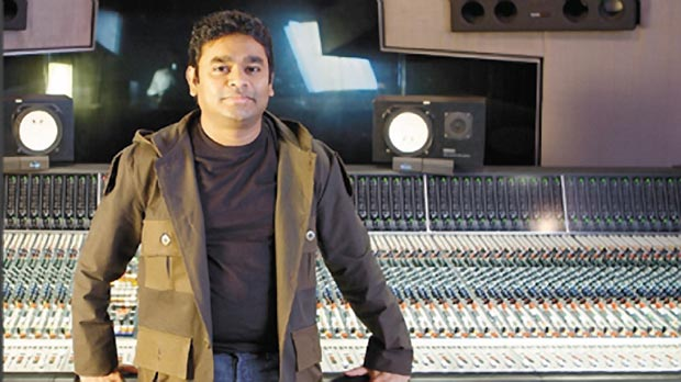 A. R.Rahman in his recording studio