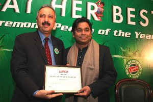 Limca Book of Records honouring A.R. Rahman