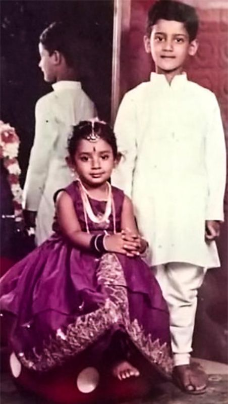 A Throwback Photo Of Mithali Raj And His Brother, Mithun