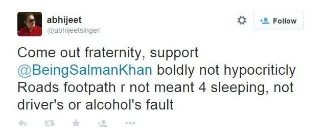Abhijeet Tweet On Salman Khan's Hit-And-Run Case