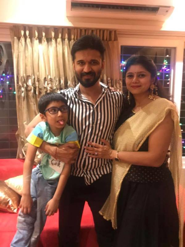Amit Trivedi With His Wife Krutee And Son Yaman