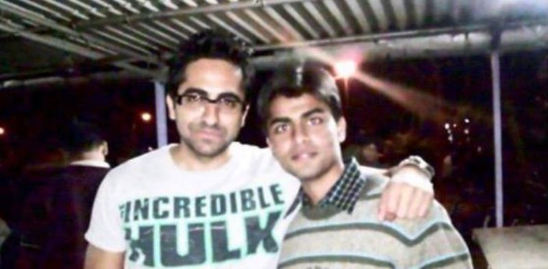 An Old Picture of Jitendra Kumar with Ayushmann Khurrana