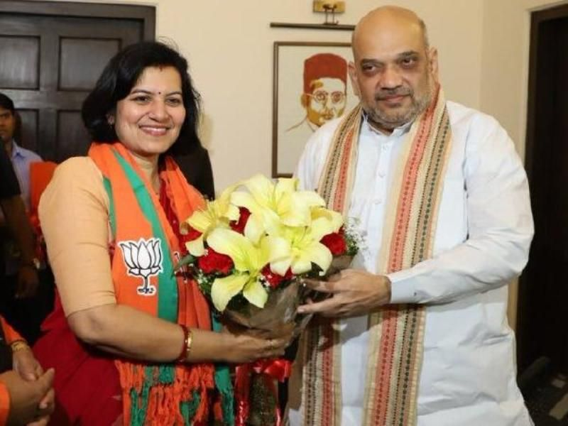 Aparajita Sarangi Joins BJP In Presence Of Amit Shah